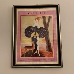 Vintage Vogue Magazine Cover Poster September 1924